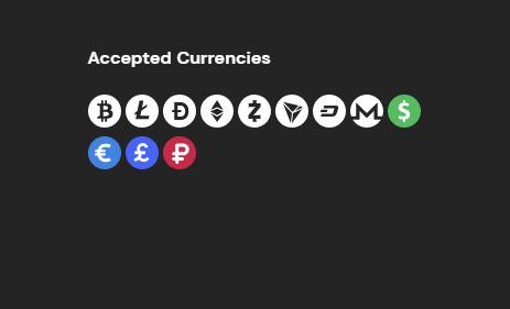 accepted currencies on fortunejack casino