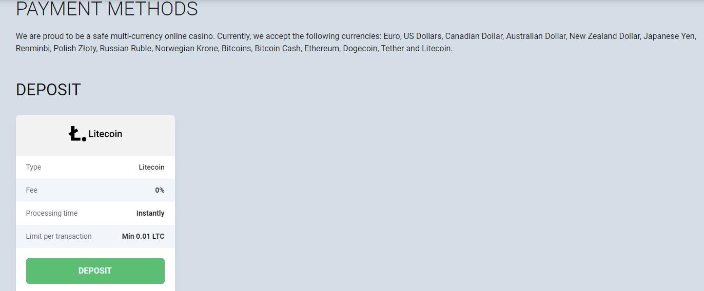 payment methods from bitstarz website