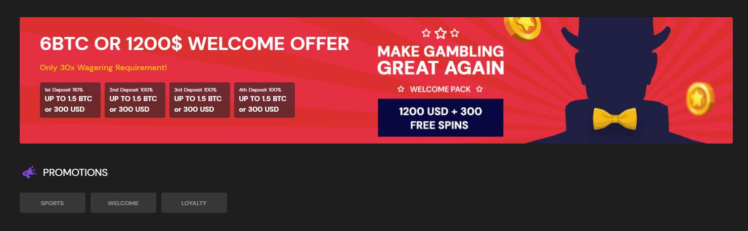 fortunejack casino welcome offer