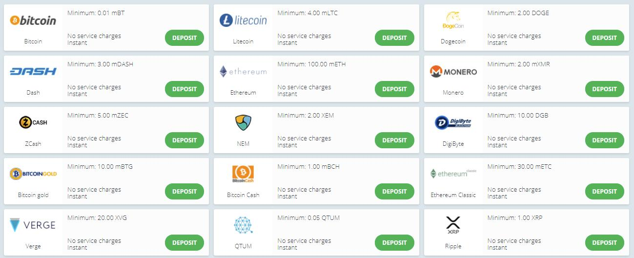 22bet casino payment options screenshot
