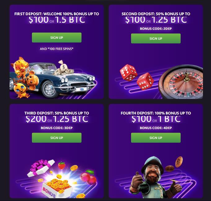 7bit casino welcome offers screenshot