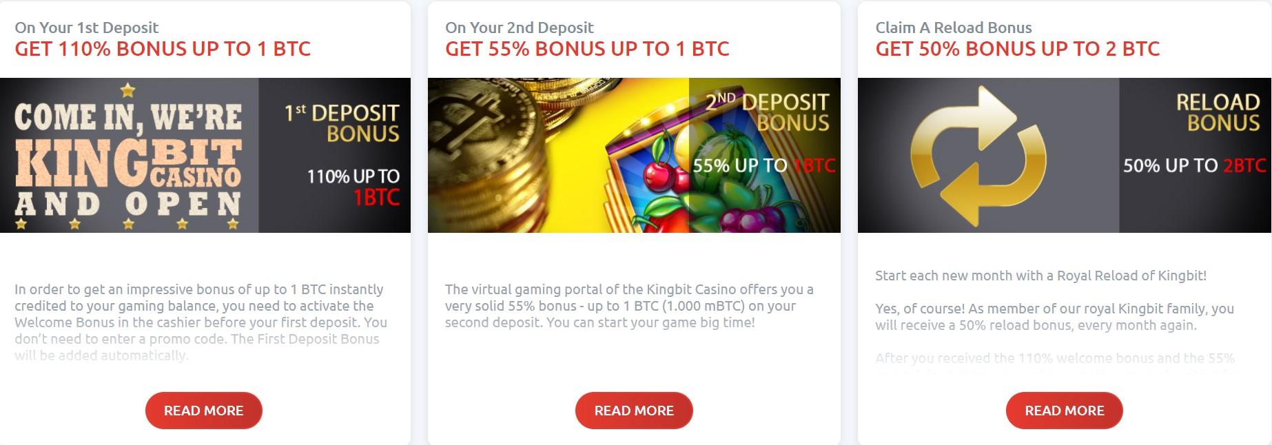 kingbit deposit bonuses