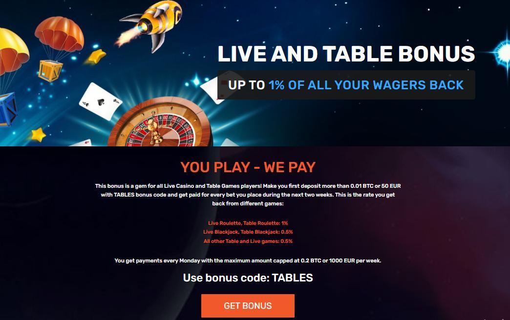winz live and table bonus terms screenshot