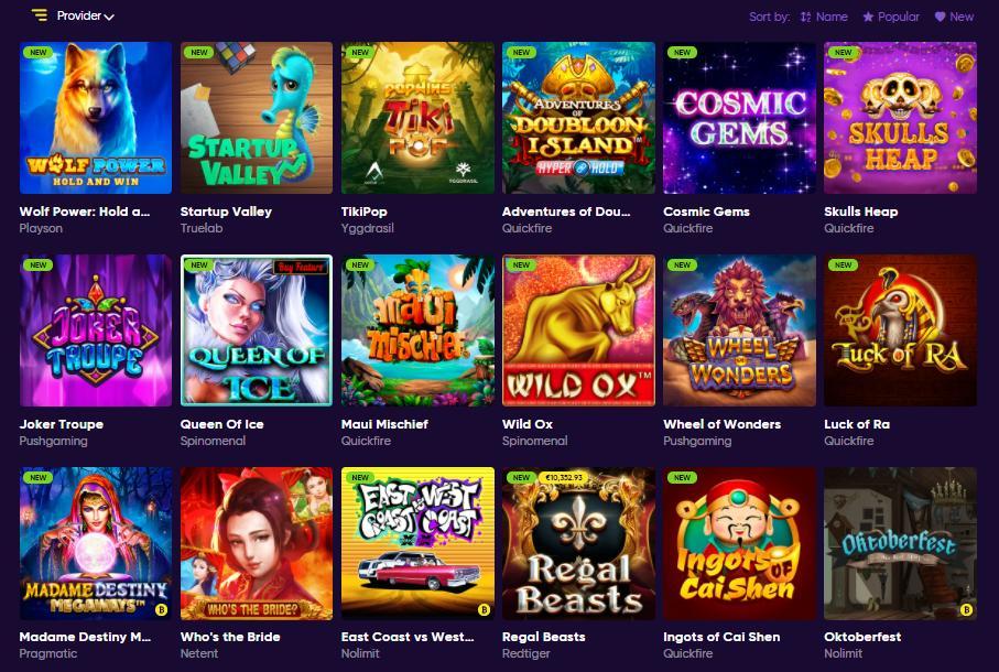 bao casino games selection