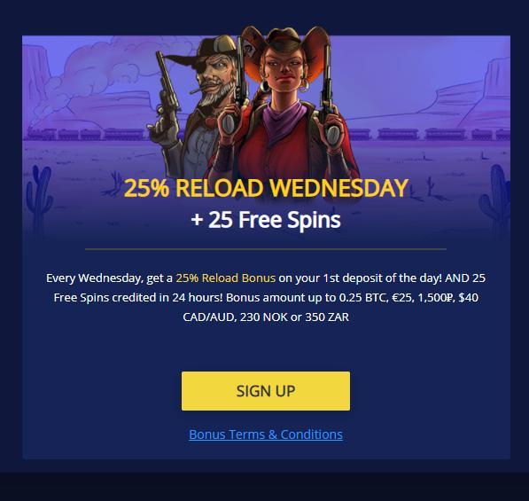 betchain casino reload bonus