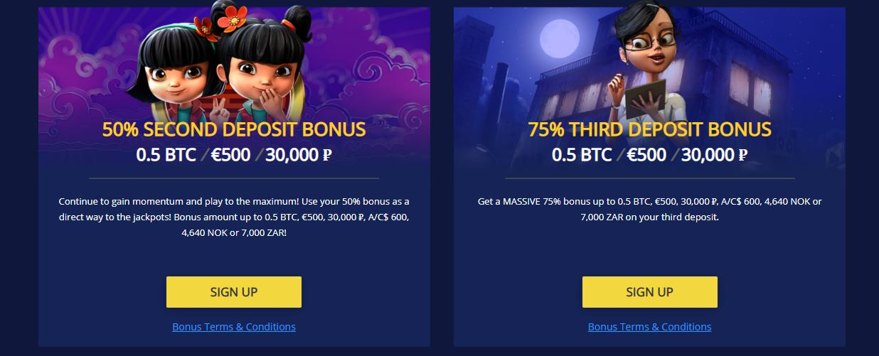 betchain first and second deposit bonuses