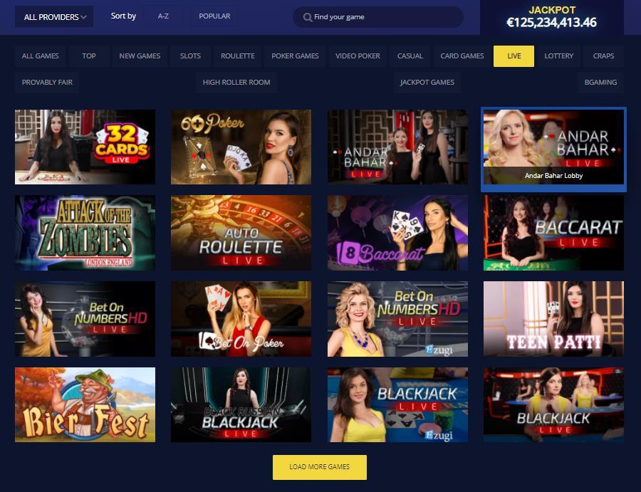 betchain live casino games