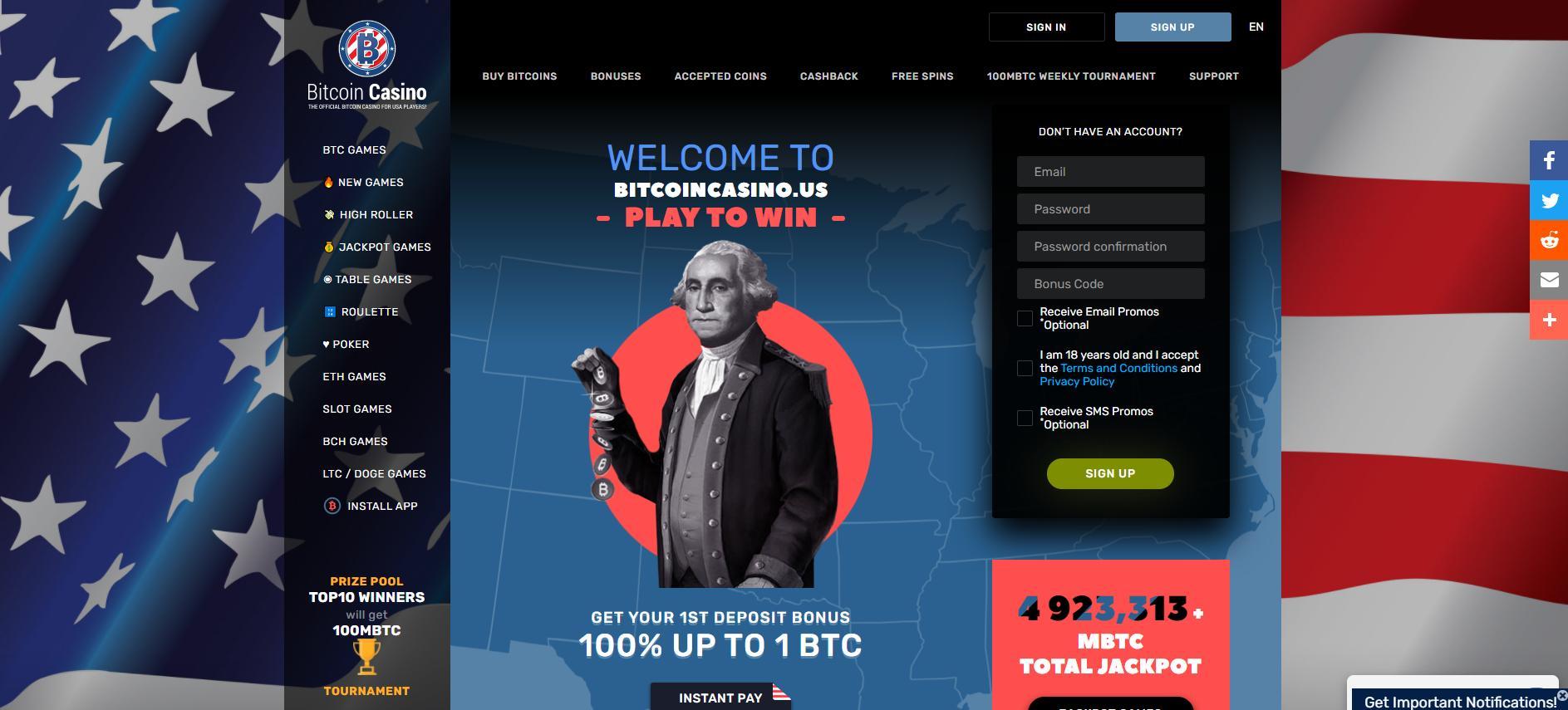 bicoincasino.us homepage