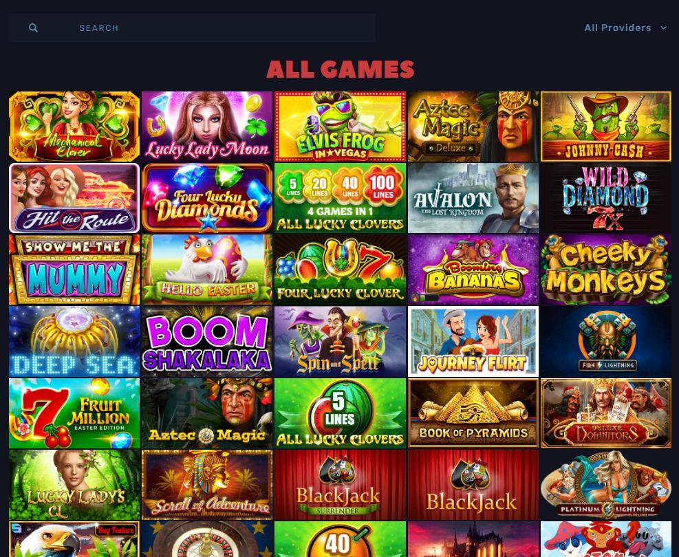 bitcoincasino.us games selection