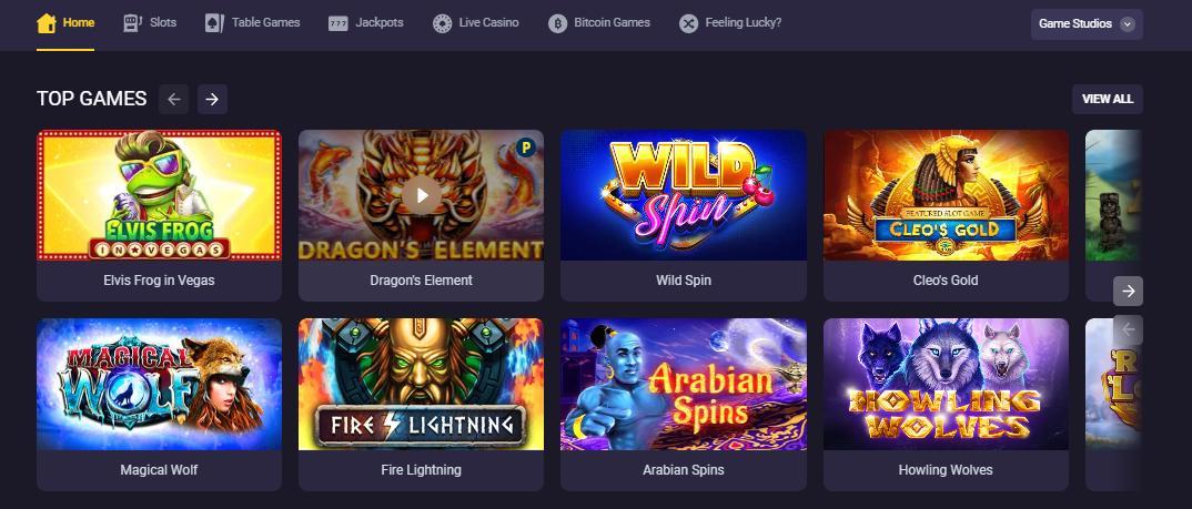 bitstarz game selection