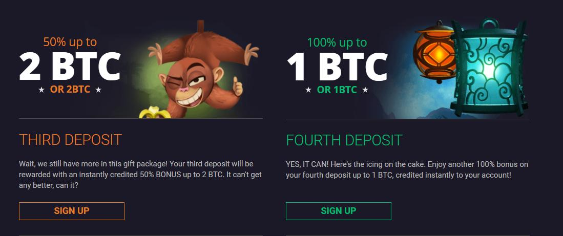 bitstarz third and forth deposits bonuses screenshot