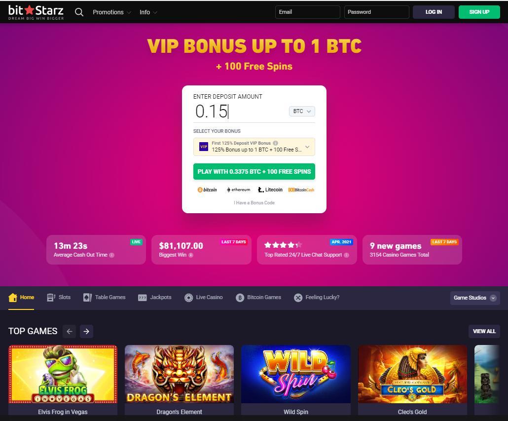 bitstarz vip bonus screenshot