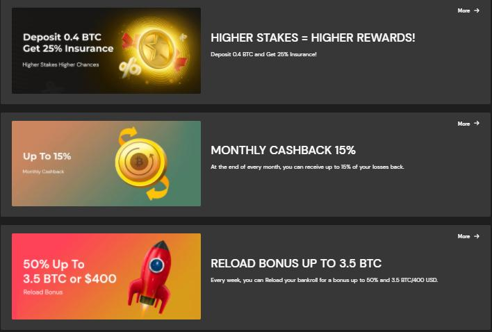 fortunejack casino promotions screenshot