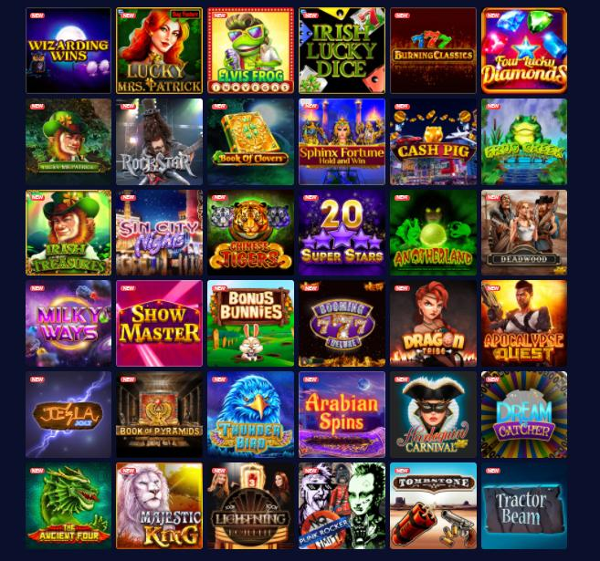 mbit games selection screenshot
